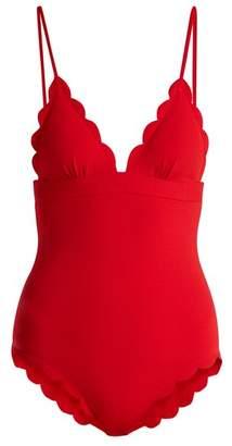 Marysia Swim Santa Clara scallop-edged swimsuit