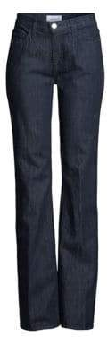 Current/Elliott The Jarvis High-Rise Dark Wash Flare Jeans