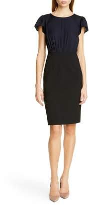 Rebecca Taylor Tailored by Mock Two-Piece Dress