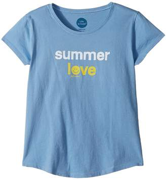 Life is Good Summer Love Smiling Smooth Tee Girl's T Shirt