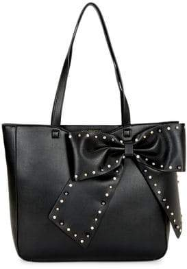 Karl Lagerfeld Paris Canelle Embellished Faux-Leather Tote