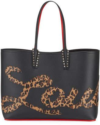 Christian Louboutin Cabata Empire Logo Rio Leopard-Print Tote Bag