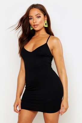 boohoo Plunge Front Jersey Cami Bodycon Dress
