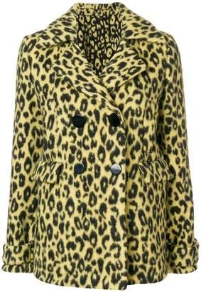 Ermanno Scervino leopard print pea coat