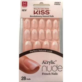 Kiss Salon Acrylic Nude French Nails 1 Kit