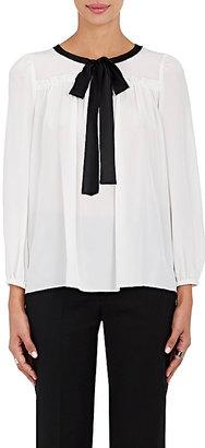 Marc Jacobs Women's Silk Tieneck Blouse $350 thestylecure.com