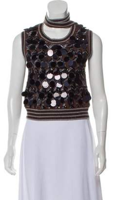 Marc Jacobs Sequin Knitted Top Brown Sequin Knitted Top