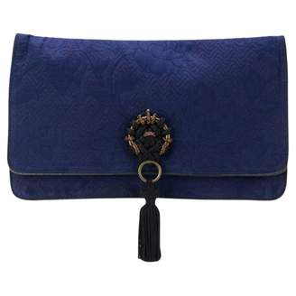 Gianfranco Ferre Vintage Blue Cotton Clutch Bag