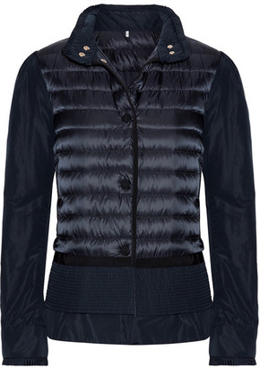 Moncler - Quilted Shell Down Jacket - Storm blue $885 thestylecure.com