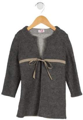 Il Gufo Girls' Scoop Neck Knit Jacket