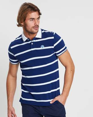 North Sails Striped Short Sleeve Polo Shirt
