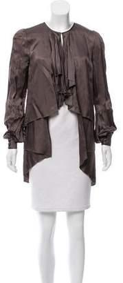Proenza Schouler Ruffle-Accented Twill Jacket