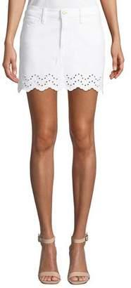 Frame Schiffly Scalloped Eyelet Mini Skirt