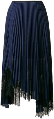 Helmut Lang asymmetric pleated skirt