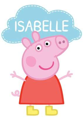 Peppa Pig Personalized Easy-Move Canvas Decal