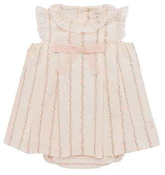 Carrera Pili Lace-Trim Floral Striped Dress w/ Bloomers, Size 3-18 Months