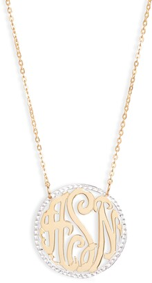 Argentovivo Personalized Three Initial Pendant Necklace