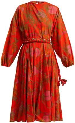 RHODE RESORT Devi floral-print tie-waist cotton dress