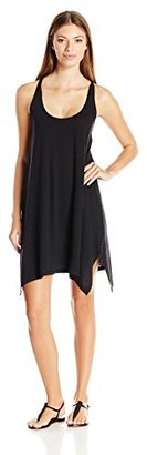 Lucky Brand Women's Arabian Night Cover-Up Dress with Tassel Ties $23.20 thestylecure.com