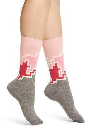 Happy Socks Geo Block Crew Socks