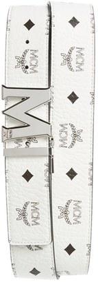 Men's Mcm Cobalt Leather Belt $295 thestylecure.com