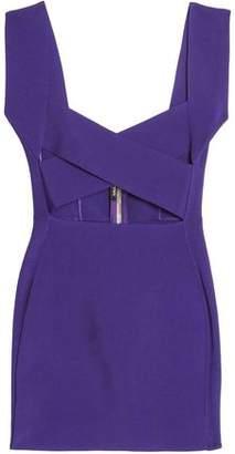 Balmain Cutout Stretch-Ponte Mini Dress