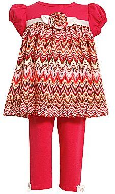 Bonnie Baby Zigzag Tunic and Legging Set - Girls newborn-24m