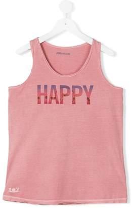 Zadig & Voltaire Kids teen Happy print T-shirt