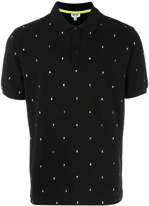Kenzo embroidered letters polo shirt