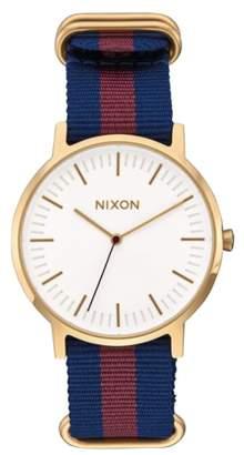 Nixon The Porter Nylon Strap Watch, 40mm