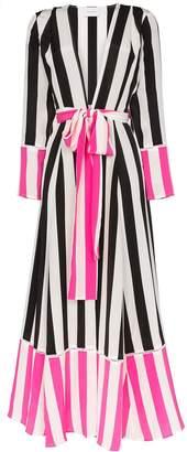 Leone We Are striped belted silk kimono jacket