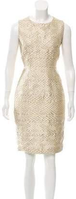 Max Mara Metallic Brocade Dress