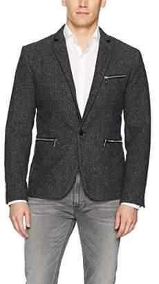 GUESS Men's Newham Mini Check Blazer Jacket