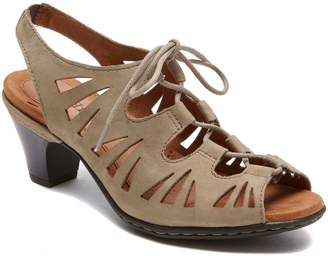 Rockport Cobb Hill Cobb Hill 'Sasha' Caged Leather Peep Toe Sandal