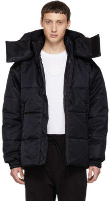 Y-3 Reversible Black Padded Jacket