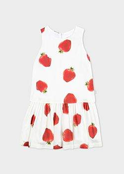 Paul Smith Girls' 2-6 Years White 'Strawberry' Print Dress