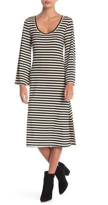 Anama Striped Scoop Neck Midi Dress