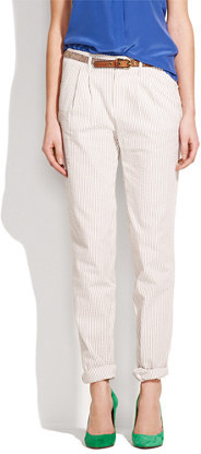 Madewell Seersucker trousers