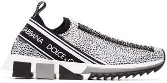 Dolce & Gabbana crystal-embellished logo sneakers
