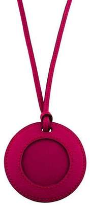 Hermes Leather Loupe Necklace