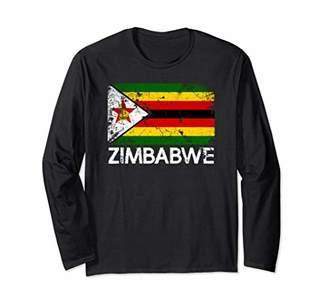 Zimbabwean Flag T-Shirt | Vintage Made In Zimbabwe Gift