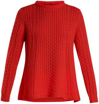 Alpina QUEENE AND BELLE cable-knit cashmere sweater