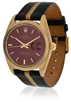 Rolex La Californienne Nova Galaxie Oyster Perpetual Date 14k Solid Gold Watch 34mm