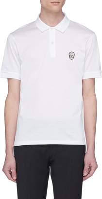 Alexander McQueen Skull patch jersey polo shirt