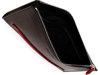 Men's Crocodile Revival Textured Leather Portfolio Bag