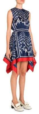 Valentino Silk Chevron-Print Handkerchief Dress