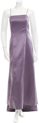 Vera Wang Sleeveless Satin Gown $200 thestylecure.com