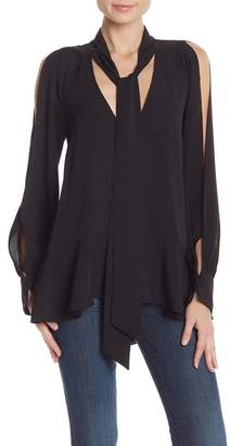 French Connection Classic Crepe Tie Neck Top