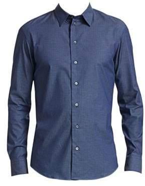 Emporio Armani Basket Weave Button-Down Shirt