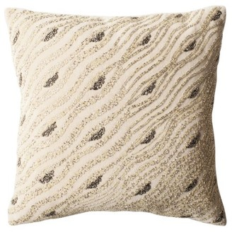 Safavieh Silver Mint Sparkles Striped Pillow